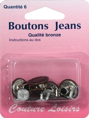 comment remplacer le bouton d'un jeans