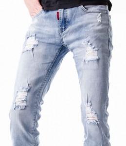 jeans homme slim destroy